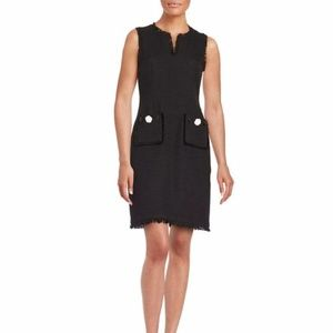 Karl Lagerfeld 4 Solid Black Tweed Sheath Dress
